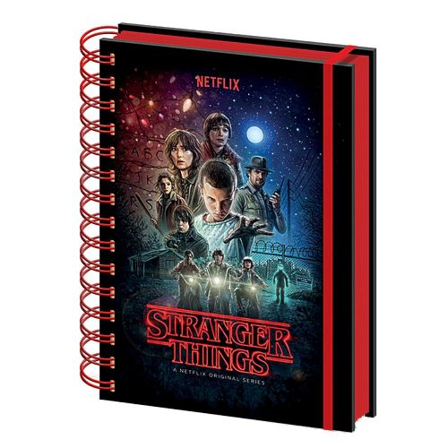 Stranger Things One Sheet Poster A5 Wiro Notebook Note Pad